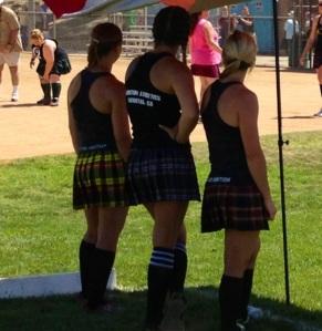 Game day girls watching