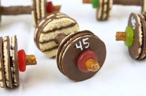 barbell cookie